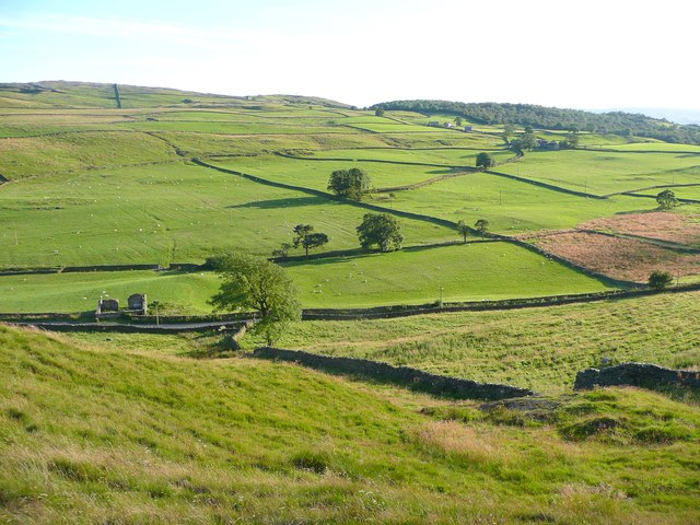 View from the footpath to Moughton Nab, Austwick