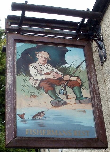 Pub sign, Fishermans Rest, Caerphilly