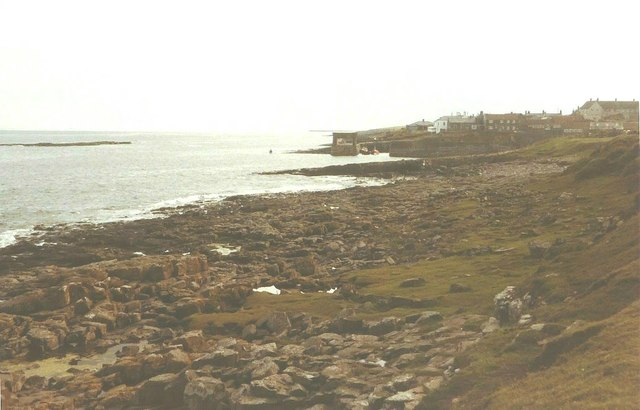 Craster harbour in 1984