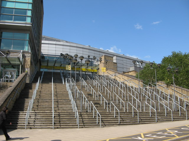 Steps up to the M.E.N. Arena from Hunt's Bank
