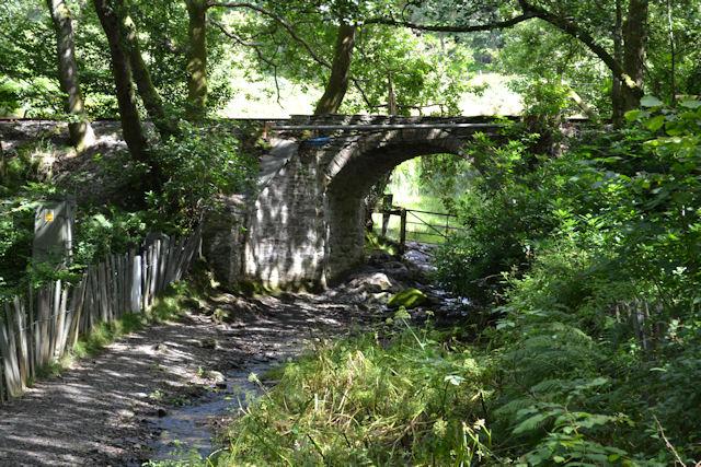 Railway bridge over track