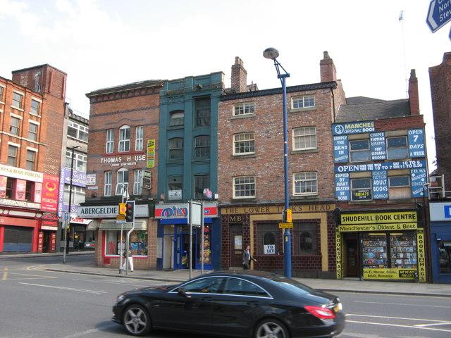 Shops & Vacant Pub on Shudehill