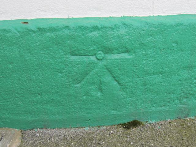 1GL bench mark and bolt on Flamborough lighthouse