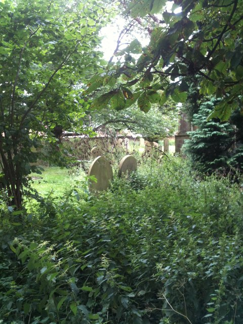 Overgrown graveyard, Church of the Ascension