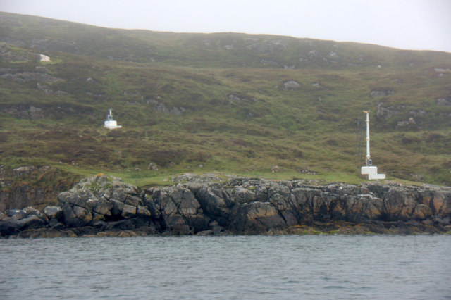 Beacon on the approach to the harbour at An t-Ob (Leverburgh)