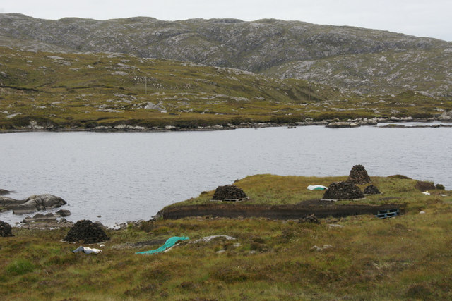 Peat cuttings beside Loch na h-Aibhne Gairbhe