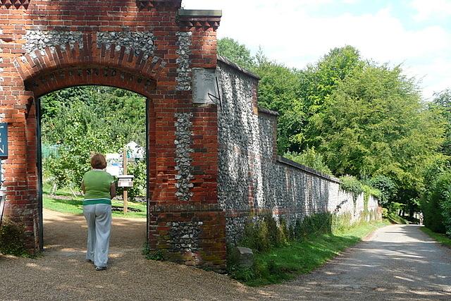 Hughenden Manor walled garden