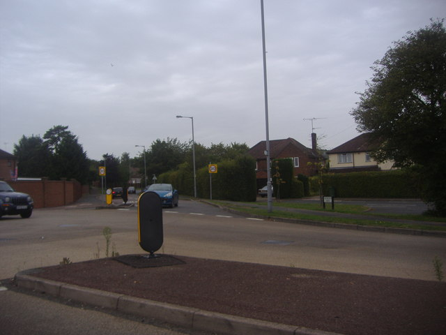 Junction of Barton Road and Weybourne Drive