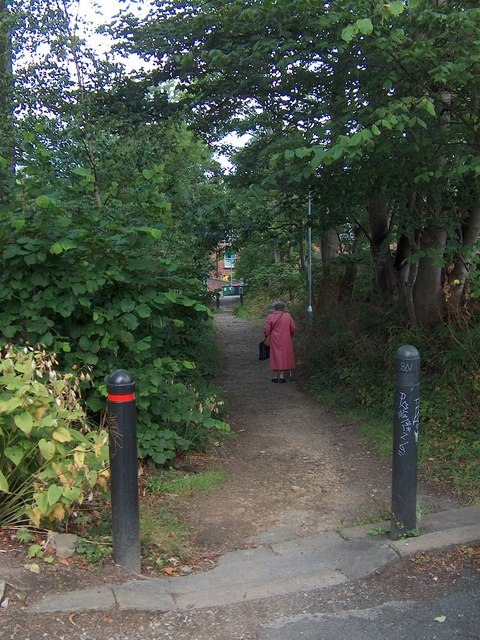 Shire Oak Road, Headingley - the gennel or ginnel