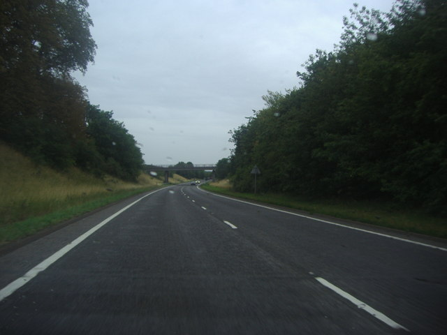 The A6 Silsoe heading for the Park Avenue flyover