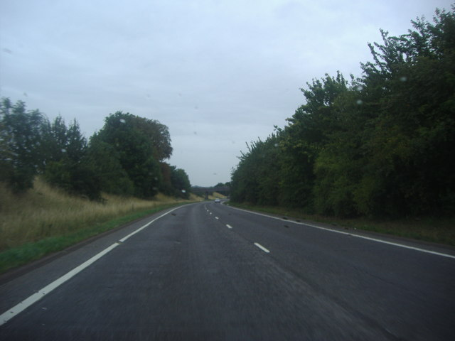 The A6 passing Silsoe