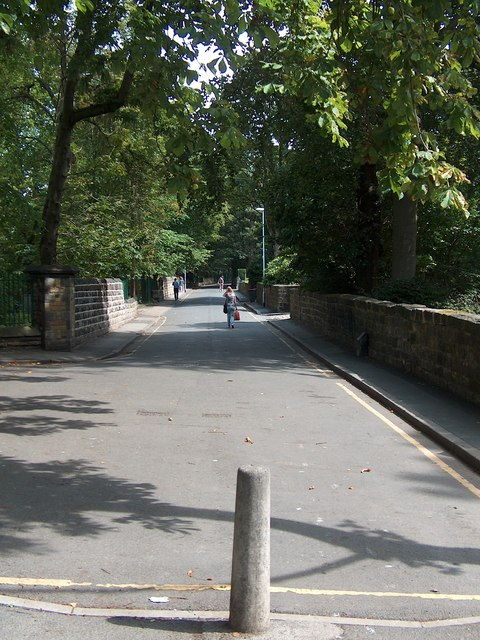 Looking East - up Wood Lane, Headingley