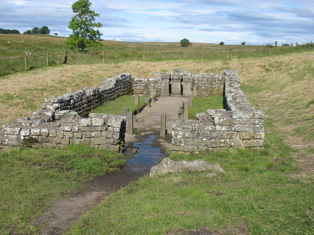 The remains of the Temple of Mithras, near Carrawburgh