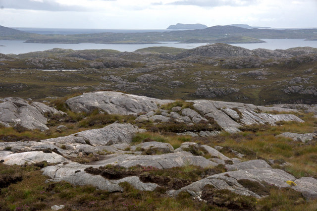 View from above the road to Greosabhagh