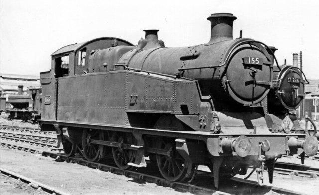 Rare Cardiff Railway 0-6-2T at Cardiff East Dock Locomotive Depot