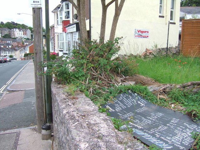 Discarded menu board, Forest Road, Torquay