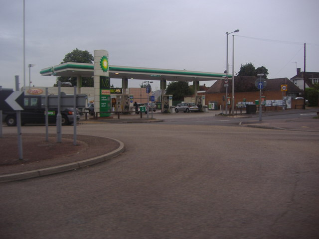 M&S service station on Barton Road roundabout