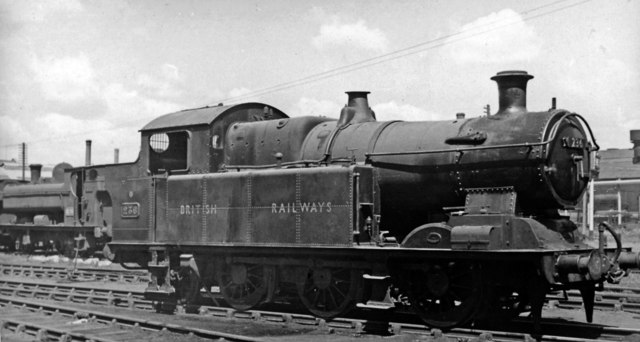Ex-Taff Vale 0-6-2T in Locomotive Yard at Cardiff East Dock