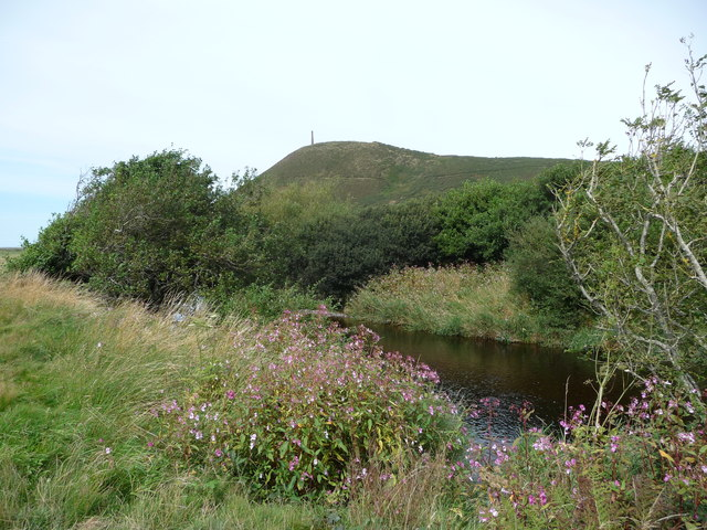 Part of the Afon Ystwyth below Pen Dinas