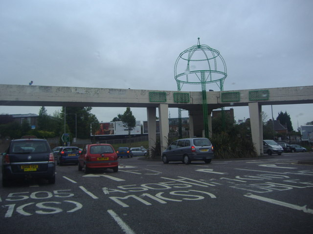 Junction of Telford Way and Dunstable Road