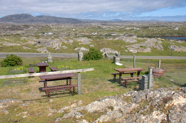 Picnic area above Finsbay (Fionnsabhagh)