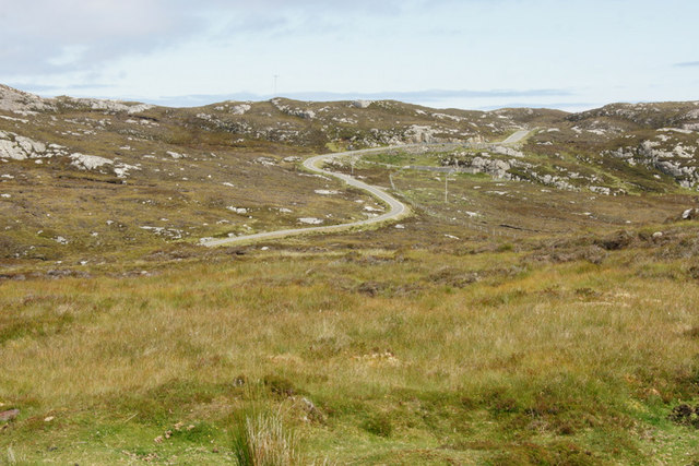 The Golden Road south of Finsbay (Fionnsabhagh)