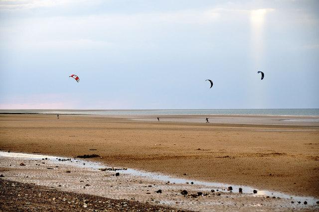 Kite Landboarding, Brancaster beach