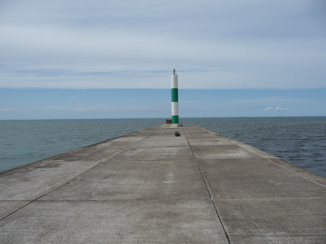 The breakwater light off Aberystwyth