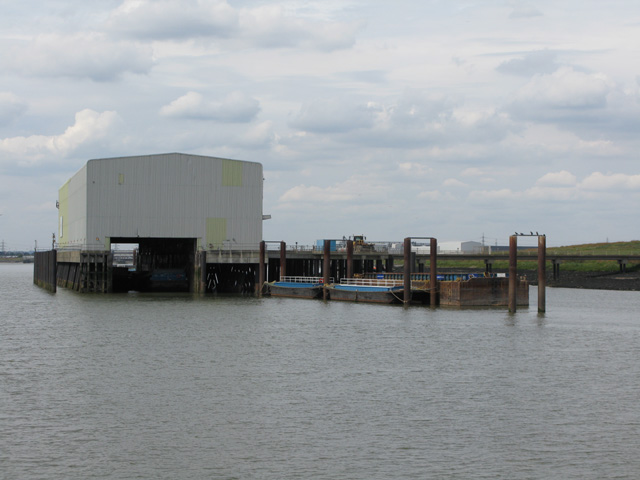 Waste transfer jetty, Coldharbour