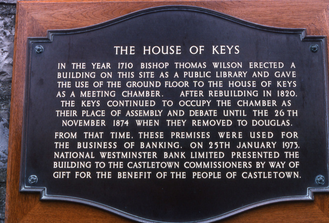 The House of Keys (plaque)