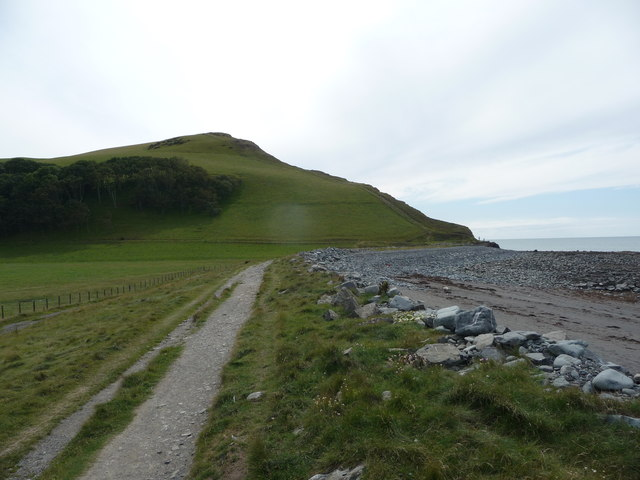 Allt Wen from the back of Tanybwlch Beach