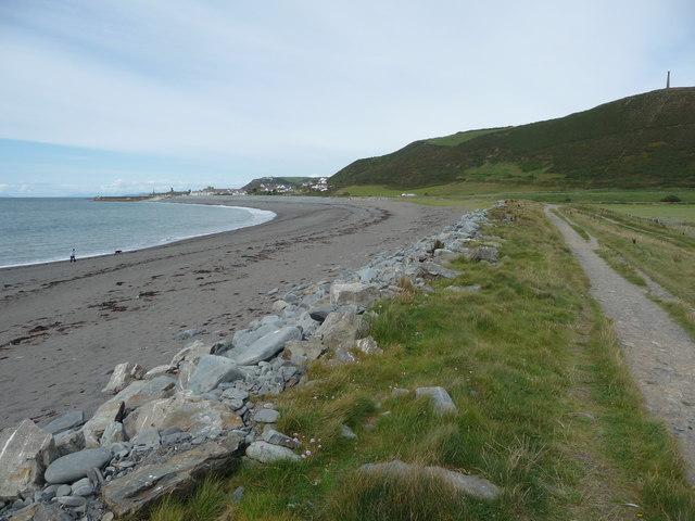 Tanybwlch Beach south of Aberystwyth