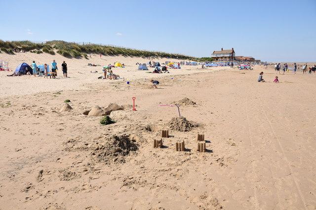 Sand castles on Brancaster beach