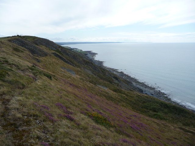 On the coastal path looking towards Morfa Bychan