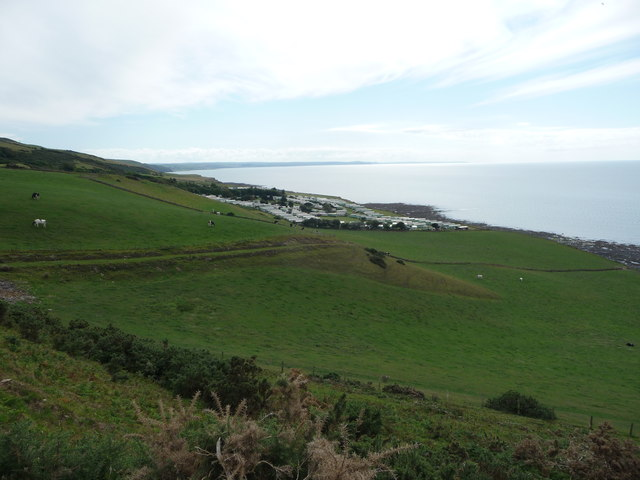 Coast path near Morfa Bychan caravan site