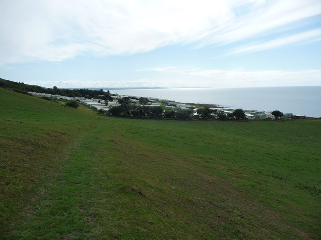 Morfa Bychan caravan park from the north