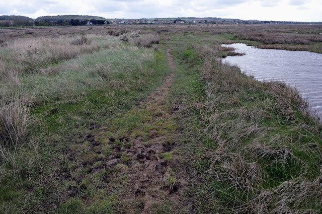 Muddy footpath near Burnham Deepdale