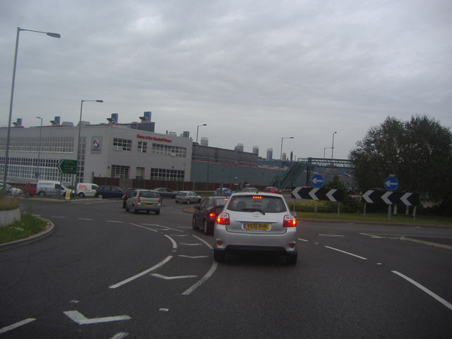 Roundabout by Vauxhall Motors, Luton