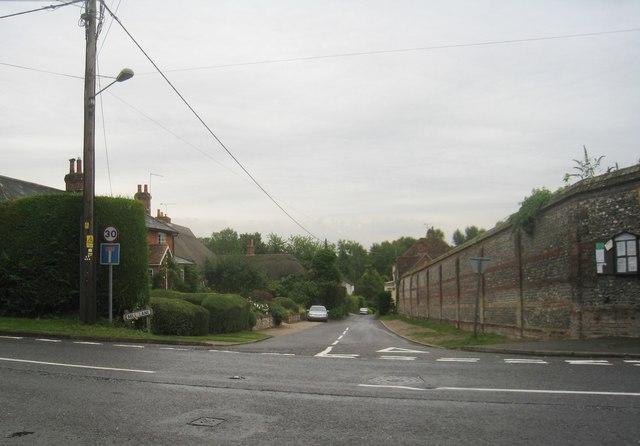Looking down Mill Lane