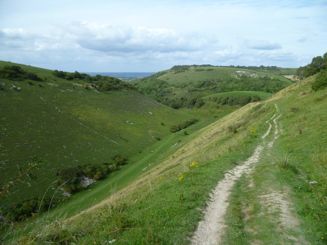 View across Devil's Dyke to Newtimber Hill