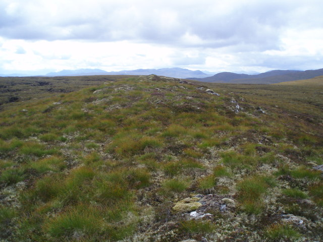 Looking south from Meall nan Aighean plateau