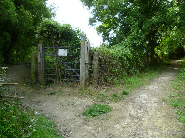 Path junction south of Poynings
