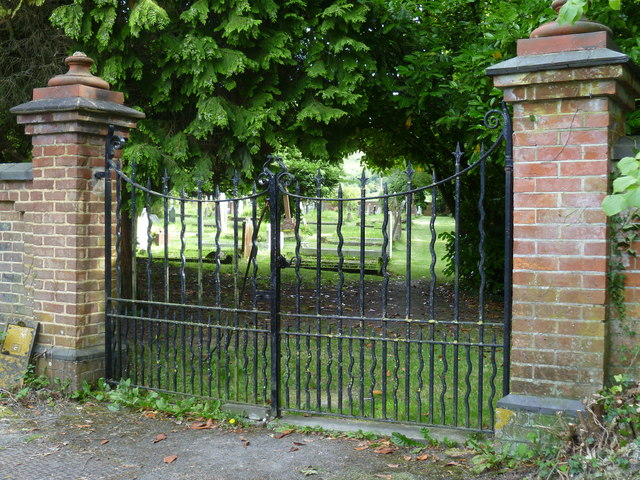 Cemetery gates at Poynings