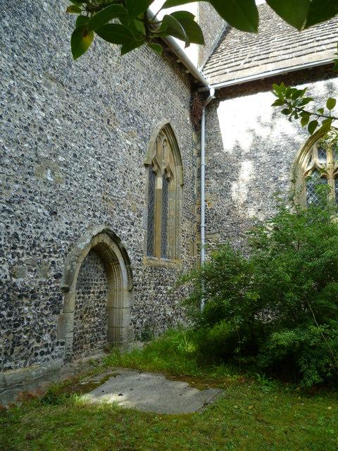 Blocked door of Poynings church