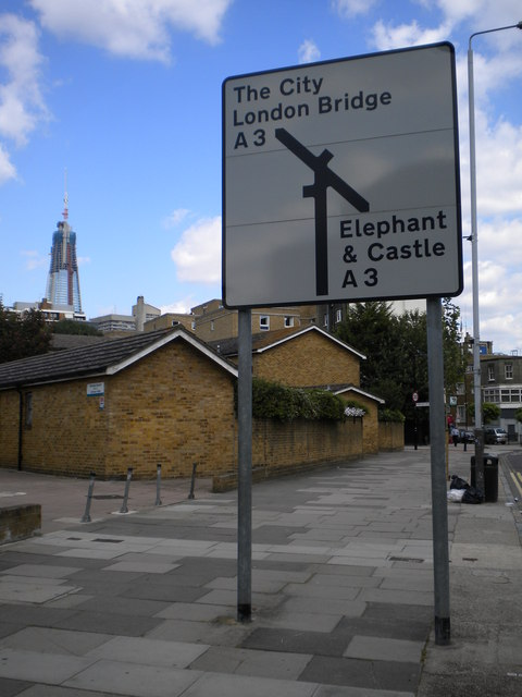 Street sign, Borough Road SE1