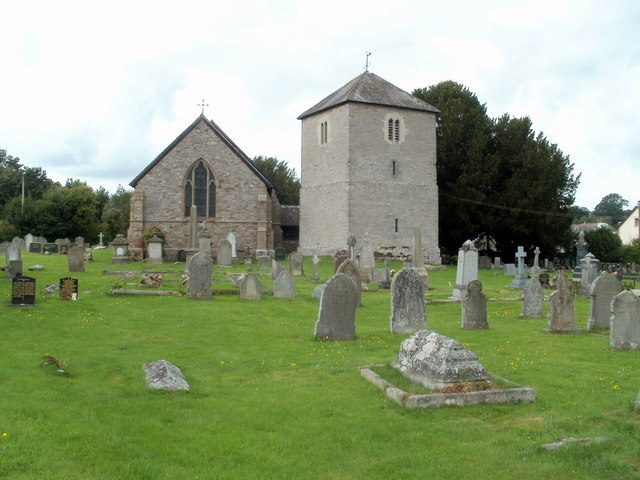 St Mary's church and belfry, Bronllys