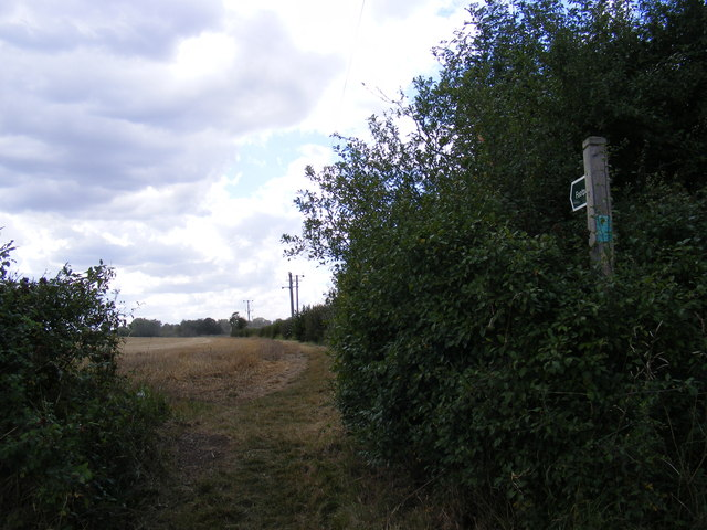 Footpath to Helmingham Road and the B1078