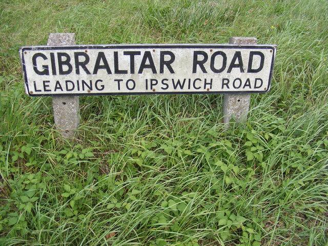 Gibraltar Road sign