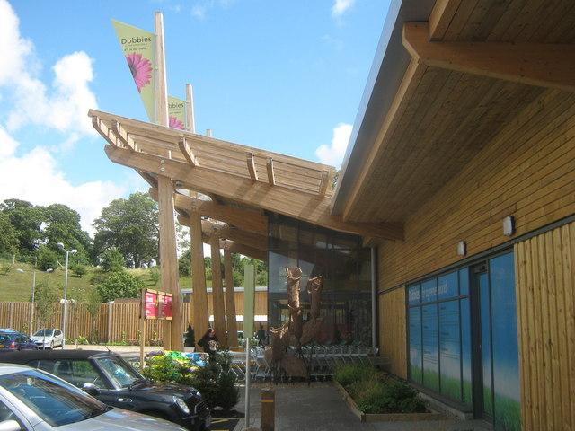 Entrance to Dobbies Garden Centre