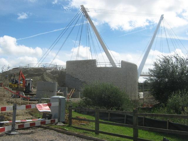 Eureka Leisure Park  footbridge under construction
